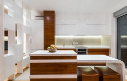 Kitchen in luxury apartment