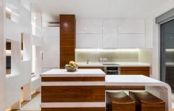 Kitchen in luxury apartment